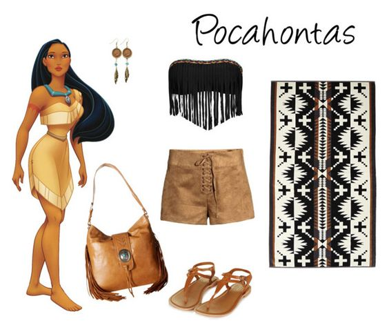 """""""Modern Pocahontas-Beach Look"""" by tizzy-potts on Polyvore featuring American Coin Treasures, Lucky Brand, Pendleton, American West, Topshop and modern"""