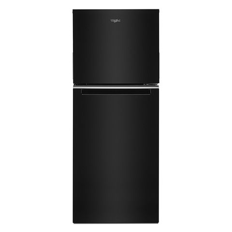 Whirlpool 11 6 Cu Ft Small Space Top Freezer Refrigerator With Led Interior Lighting And Optional Ez Connect Ice Maker Kit Black Lowes Com In 2020 Top Freezer Refrigerator Interior Lighting Refrigerator