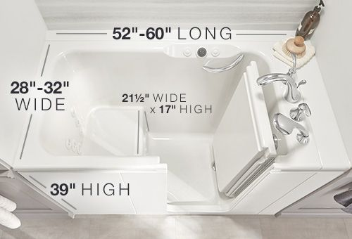 How Big Is A Walk In Tub Click To Learn More Kohler Homesmart
