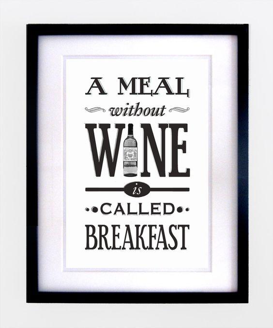 wine quote print $16.00