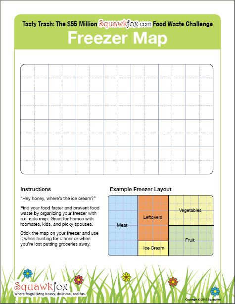 Sew Much Crafting {Projects in Progress} Deep Freezer Clean-Out - inventory list example