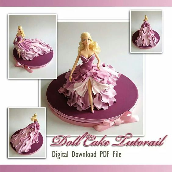 Gorgeous doll cake
