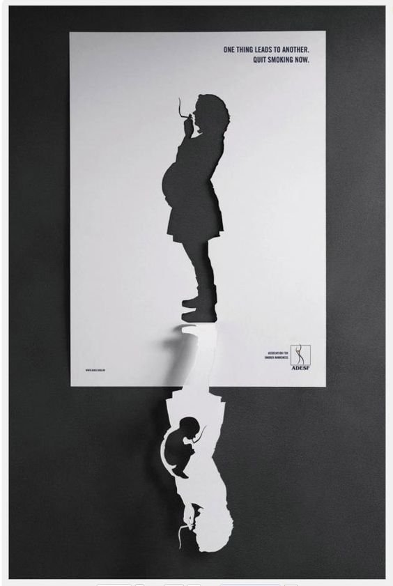 Very cool play on positive and negative space.  [someone else's caption]