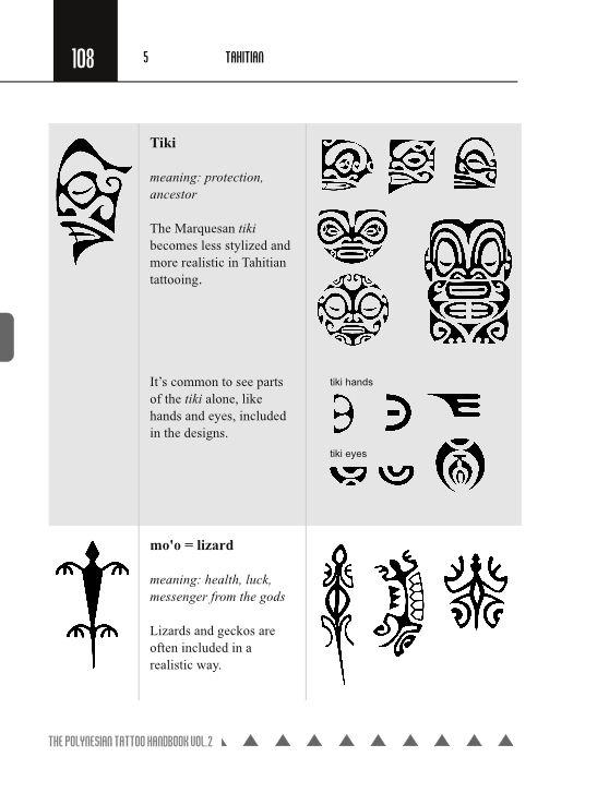 Tahitian Tattoo Symbols The Polynesian Tattoo Handbook Vol 2 Tahitian Tattoo Polynesian Tattoo Meanings Polynesian Tattoos Women