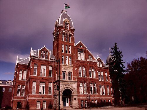 This Is A Building That Is On Washington Central University Campus
