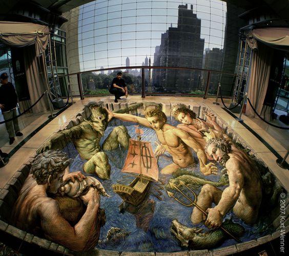Kurt Wenner. Pintura callejera en 3D