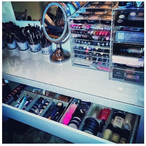 Organized makeup...who has this much makeup? lol
