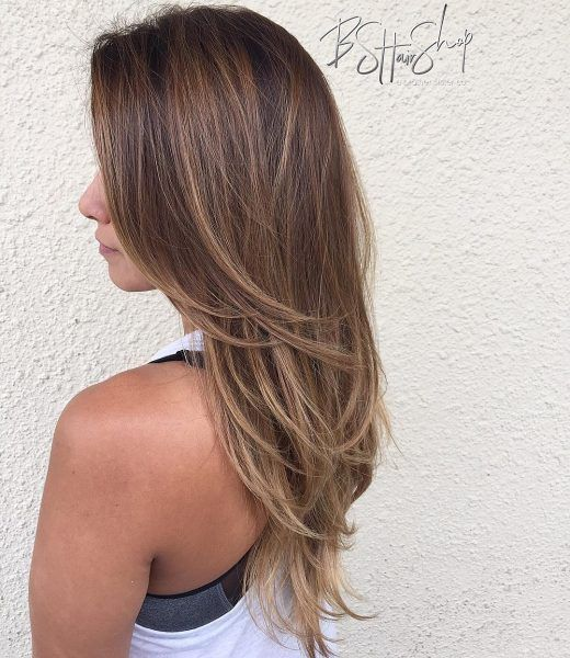 California Long Layers The Modern Woman Wants To Look Like She S Always Headed To The Beac Haircuts For Long Hair Straight Thin Hair Haircuts Long Thin Hair