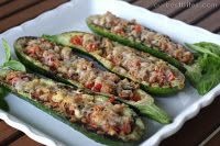 Grilled Stuffed Zucchini. I want to make this!
