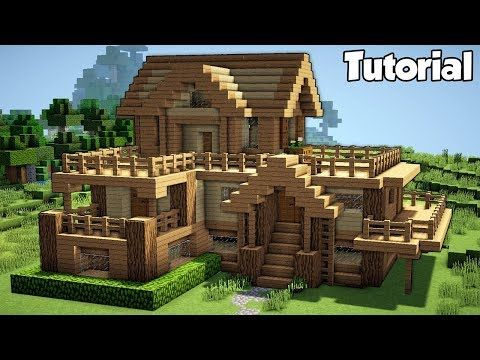 Youtube Minecraft House Tutorials Easy Minecraft Houses Minecraft Starter House