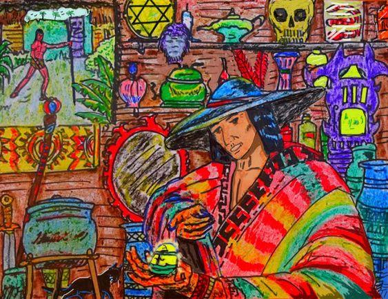 Saul El Hombre Caiman El Hechicero Y El Elixir Magico Hechicero Realismo Magico Magico