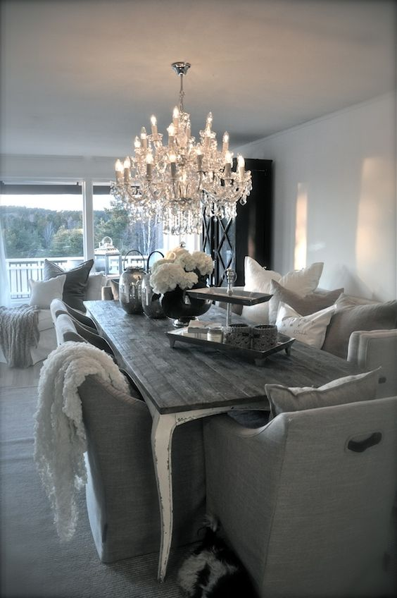 This is a beautiful dining room love the choice of for Beautiful dining rooms