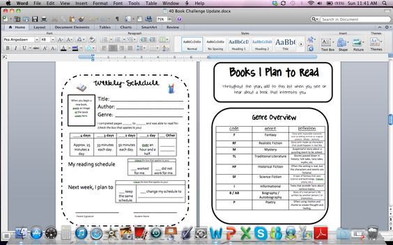 Free 40 Book Challenge Reader's Notebook 22 page download-- free