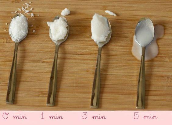 toutes-etapes du beurre de coco fait maison pour un pot d'environ 500 gr)  500 gr de copeaux (poudre) de noix de coco 1 cas d'huile de coco bio