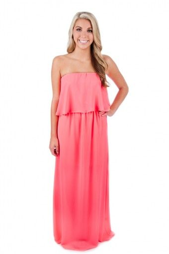 Stop and Stare Maxi Dress- Neon Pink - New Arrivals $42.00