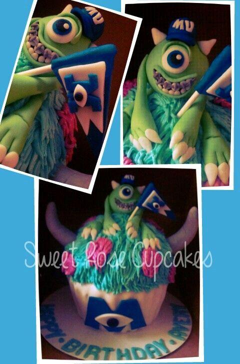 Monster's university giant cupcake