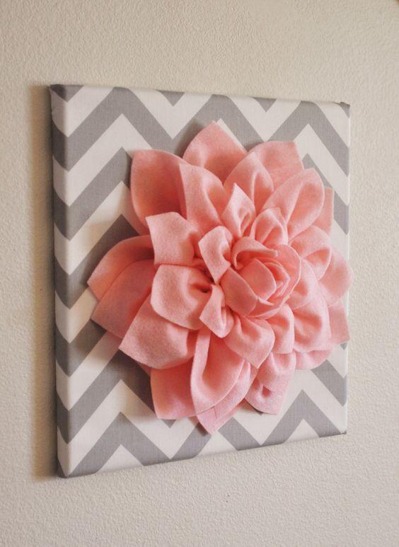 Canvas Wall Flower Art - etsy