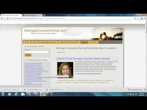 This video shows how to select a marriage counselor by ranking profiles using a marriage counselor directory.