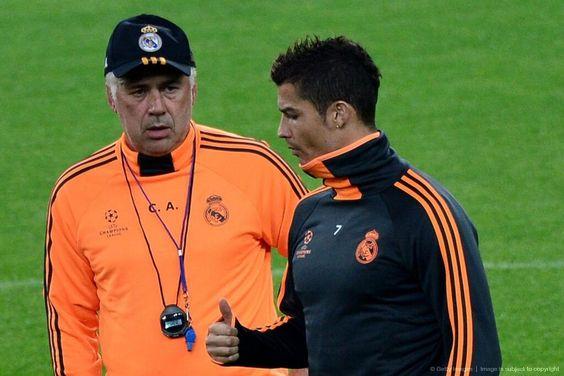 Carlo Ancelotti & Cristiano Ronaldo #realmadrid