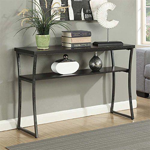Convenience Concepts X Calibur Console Table Espresso Sofa Tables Living Room Living Room Table Console Table