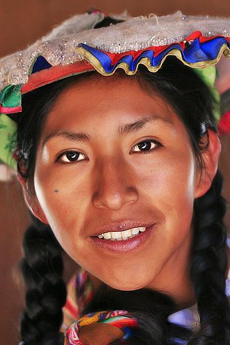 Woman from Peru with traditional hat
