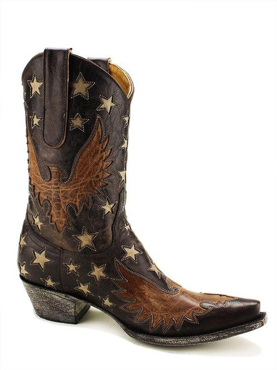 Ladies Old Gringo Eagle Inlay Star Boots L1627-3 - Texas Boot Company is located in Bastrop, Texas. www.texasbootcompany.com