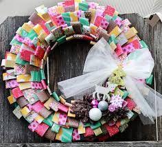 coroas de natal recicladas - Pesquisa Google