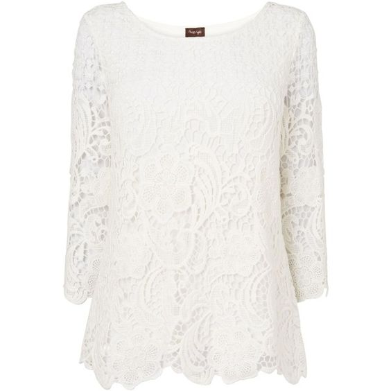Phase Eight Shelley crochet lace blouse (1,320 MXN) ❤ liked on ...