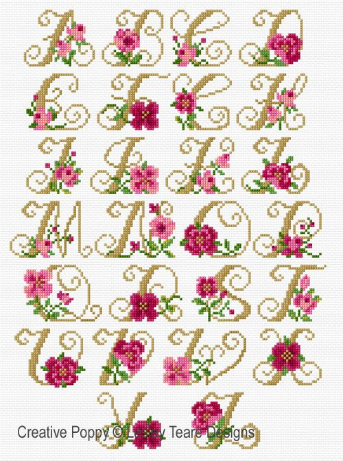 B Alphabet Roses B Br Cross Stitch Pattern Br By B Lesley Teare Designs B Cross Stitch Alphabet Patterns Wedding Cross Stitch Patterns Cross Stitch Rose