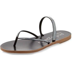 Pedro Garcia Ilsa Flat Crystal Thong Sandal
