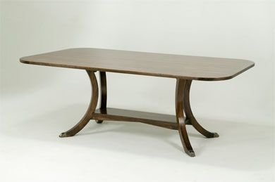 8716c rect dining table with large overhang eclectic for Dining table overhang