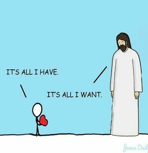 He gives us so much and all He asks is that we love Him