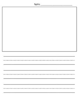 This show and tell writing paper template provides for Free printable lined paper template for kids