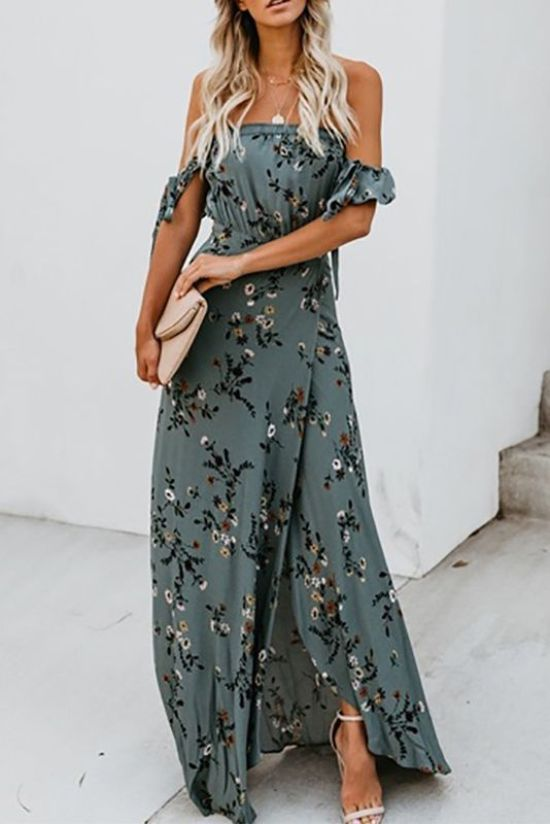 12 Summer Date Night Outfits We Re Obsessed With Society19 Style Maxi Dress Maxi Dress Boho Dress
