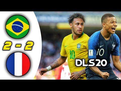 Brazil Vs France 2 2 All Goals Highlights Dream League Soccer 2020 International Cup Youtube In 2020 International Cup League Goals