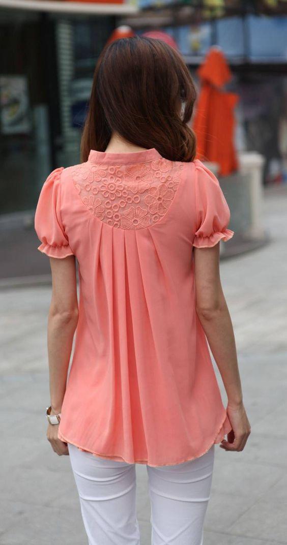 blusa de gasa de maternidad, ropa embarazadas gasa moda camisas
