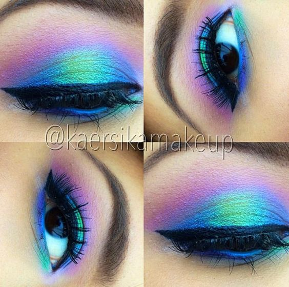 This looks like all the fabulous COLOR you would see at the COLOR RUN 5k! This look created by Kaersika Makeup on IG! This trio includes... 1- FRAGGLEROCK 2- PEACOCK 3- OMG Get all 3 for a discounted