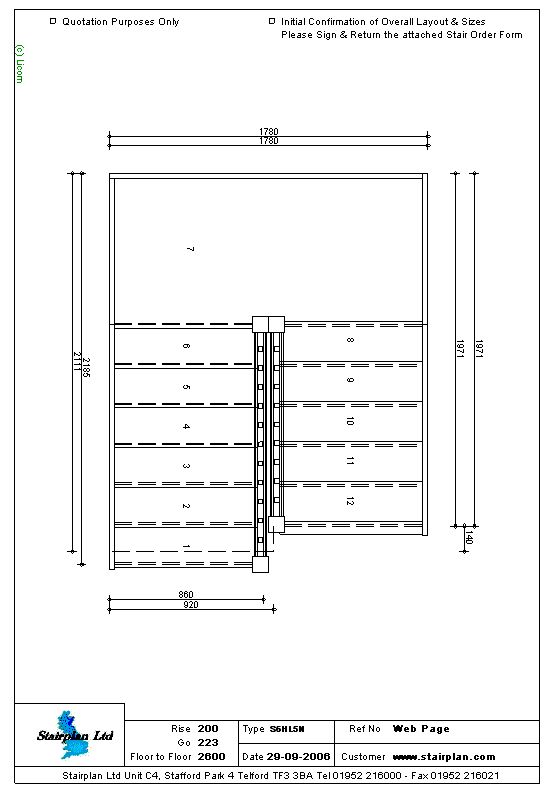 S6HL5N Half Landing Staircase Trapperom Pinterest Staircases   Order Form  Layout  Order Form Layout