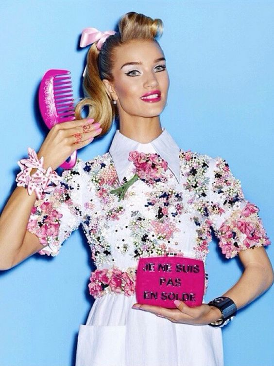 Must-See: Rosie Huntington-Whiteley as a Real-Life Barbie