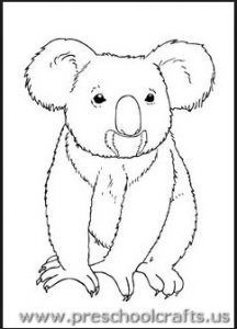 Free Printable Koala Coloring Pages For Kids Bear Coloring Pages Animal Coloring Pages Coloring Pages