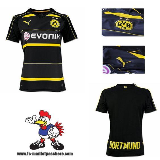 Nouveau Maillots Dortmund BVB Femme Exterieur 2016 2017 Beau