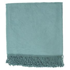 "With its bamboo and cotton design, this cozy throw is the perfect addition to your bed or favorite reading nook.    Product: ThrowConstruction Material: Bamboo-cotton blendColor: TealDimensions: 50"" x 67"" Cleaning and Care: Blot stains"