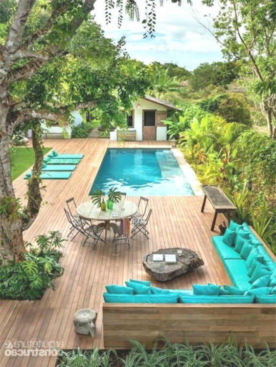 Terraces In Turquoise Blue Trendy Home Decorations Small Pool Design Backyard Pool Backyard Pool Designs