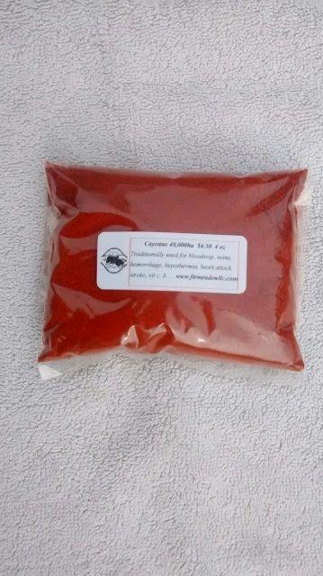 Cayenne THE emergency herb (40,000 HU) 4 oz