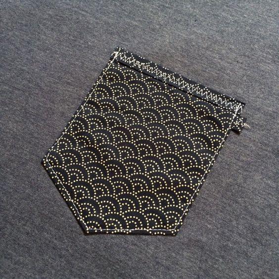 Japanese Wave Pocket T-shirt Dead Gent Exclusive  by DeadGentCo