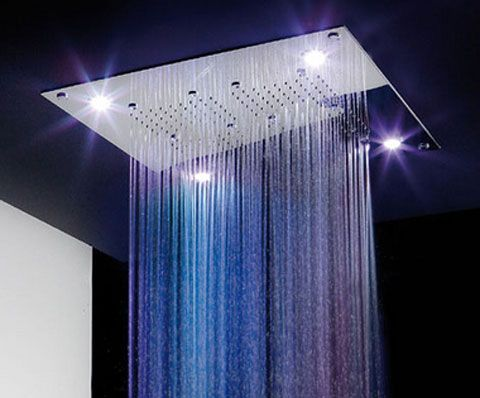 Absolutely LOVE this LED overhead showerhead!!!! <3 <3 <3