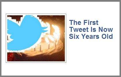 On March 21, 2006, Twitter co-founder Jack Dorsey sent the first tweet in history... ( http://romcartridge.blogspot.com/2012/03/first-tweet-is-now-six-years-old.html )