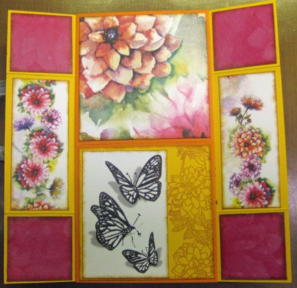 #ClubScrap Dahlia Blog Hop card by Debbie Weller
