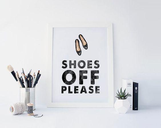 Chaussures Off s'il vous plaît signe impression par CreativOrder
