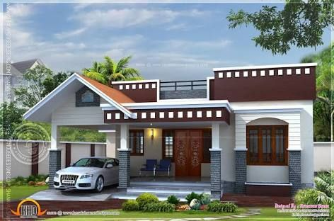 Image Result For Modern House Front View Single Floor Kerala House Design Single Floor House Design House Front Design